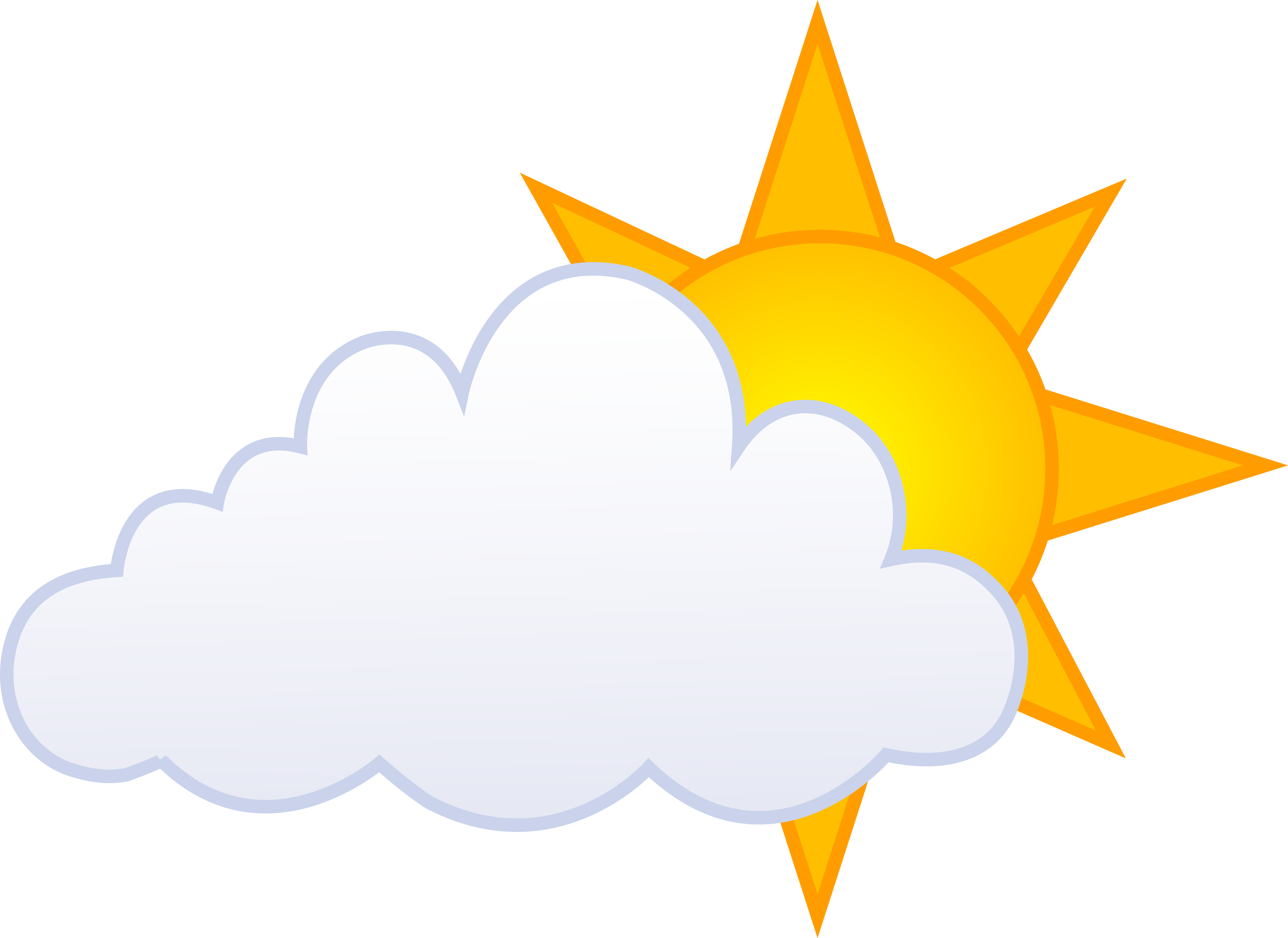 Clouds Clipart Partly Cloudy 10