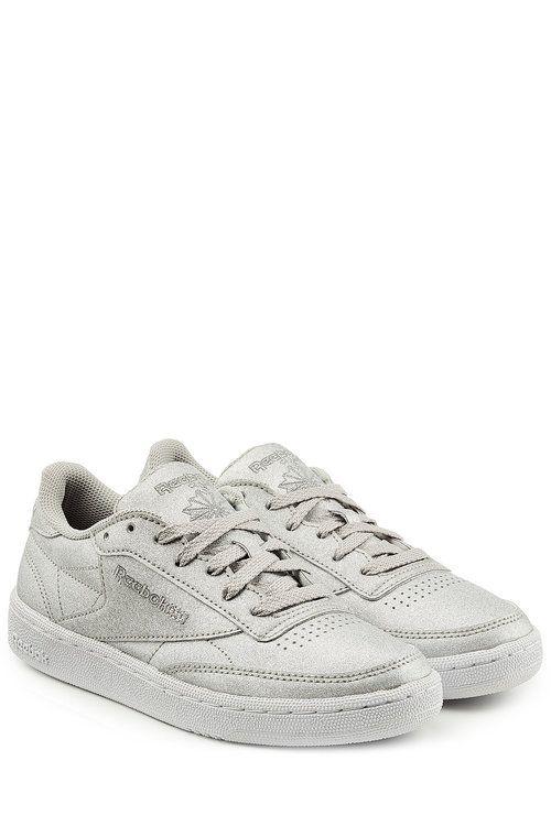 2355f67938c REEBOK Club C 85 Diamond Sneakers In Metallic Leather.  reebok  shoes