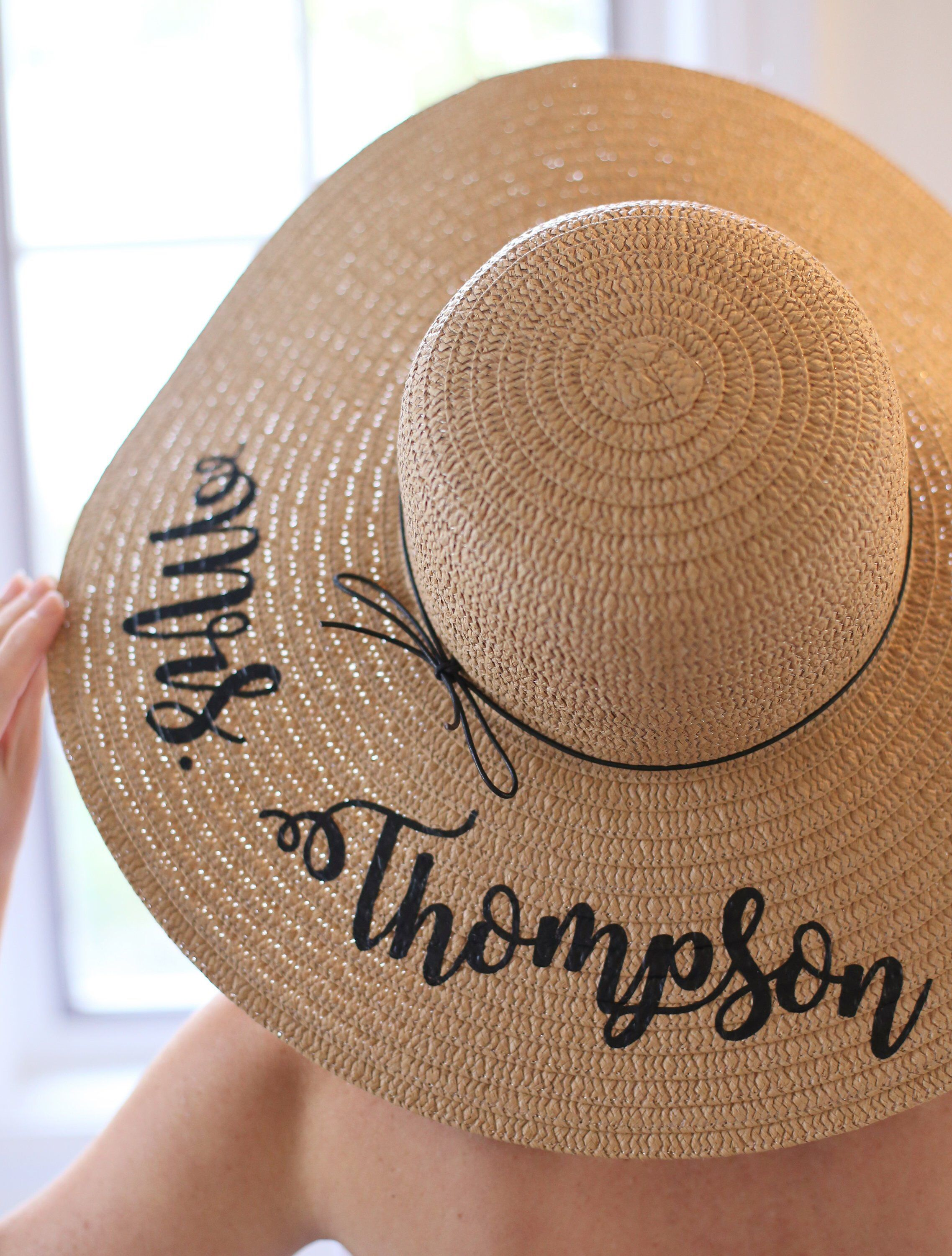 458fd14f Excited to share the latest addition to my #etsy shop: Personalized Bridal  Shower Gift Personalized Wedding Gift Personalized Floppy Hat Personalized  Sun ...