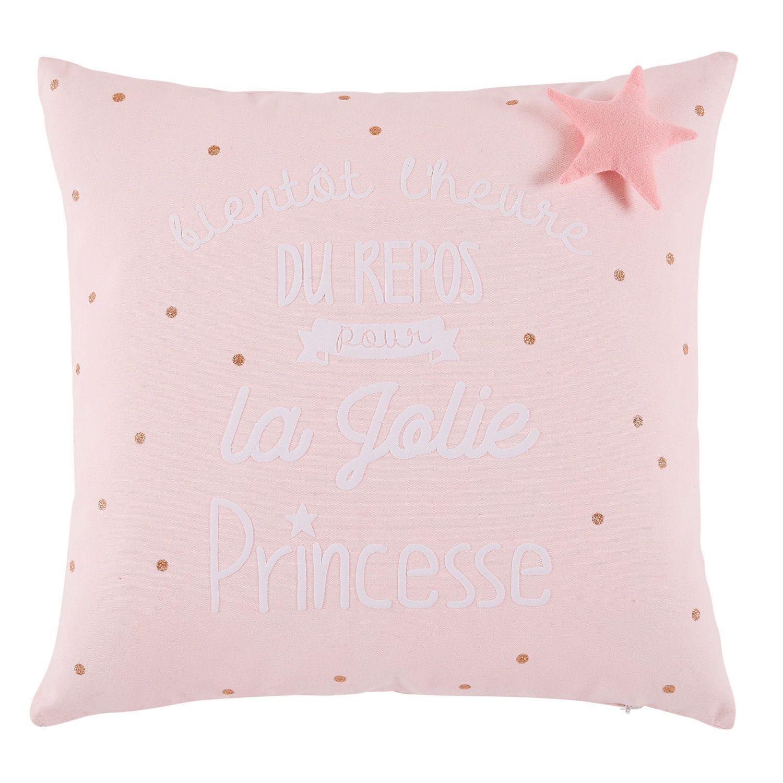 Coussin En Coton Rose Imprime 40x40 Maisons Du Monde Childrens Floor Baby Decor Trending Decor