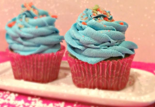 The TipToe Fairy: Cotton Candy Cupcakes