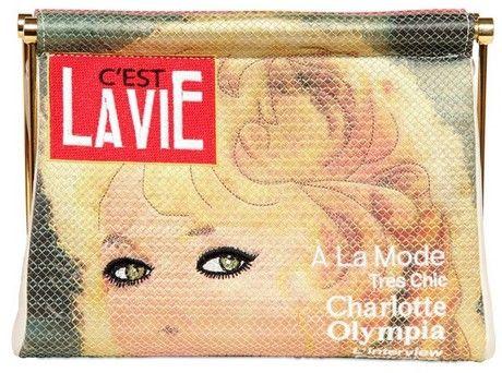 CHARLOTTE OLYMPIA   C Est La Vie Crepe De Chine Clutch - Lyst