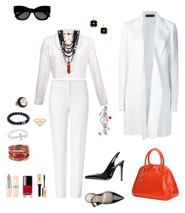 """""""Untitled #361"""" by lianatzelese on Polyvore featuring ESCADA, Calvin Klein Collection, Gotiè Paris, Asha by ADM, The Pearl Quarter, Devon Leigh, Bling Jewelry, JudeFrances, Game Time and BEA"""