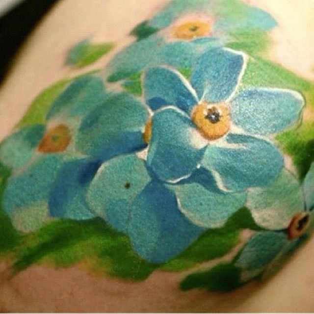 Love This Water Color Forget Me Not Tattoo INK | Tattoo ...