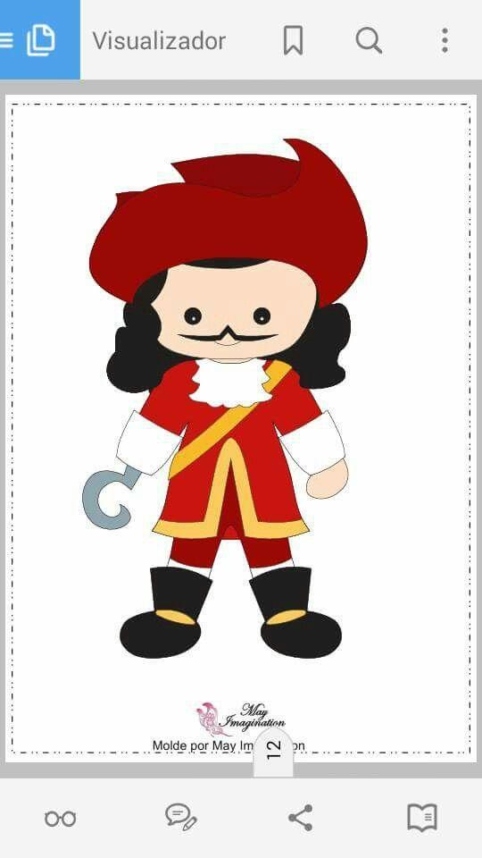 capitão gancho cute cliparts pinterest peter pans felting and