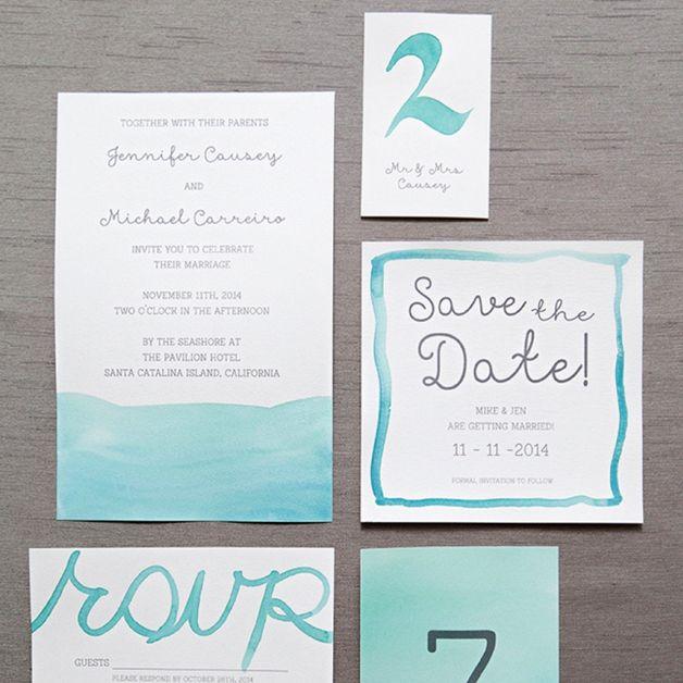 Diy Watercolored Letterpress Invites Hand Painted Invitations