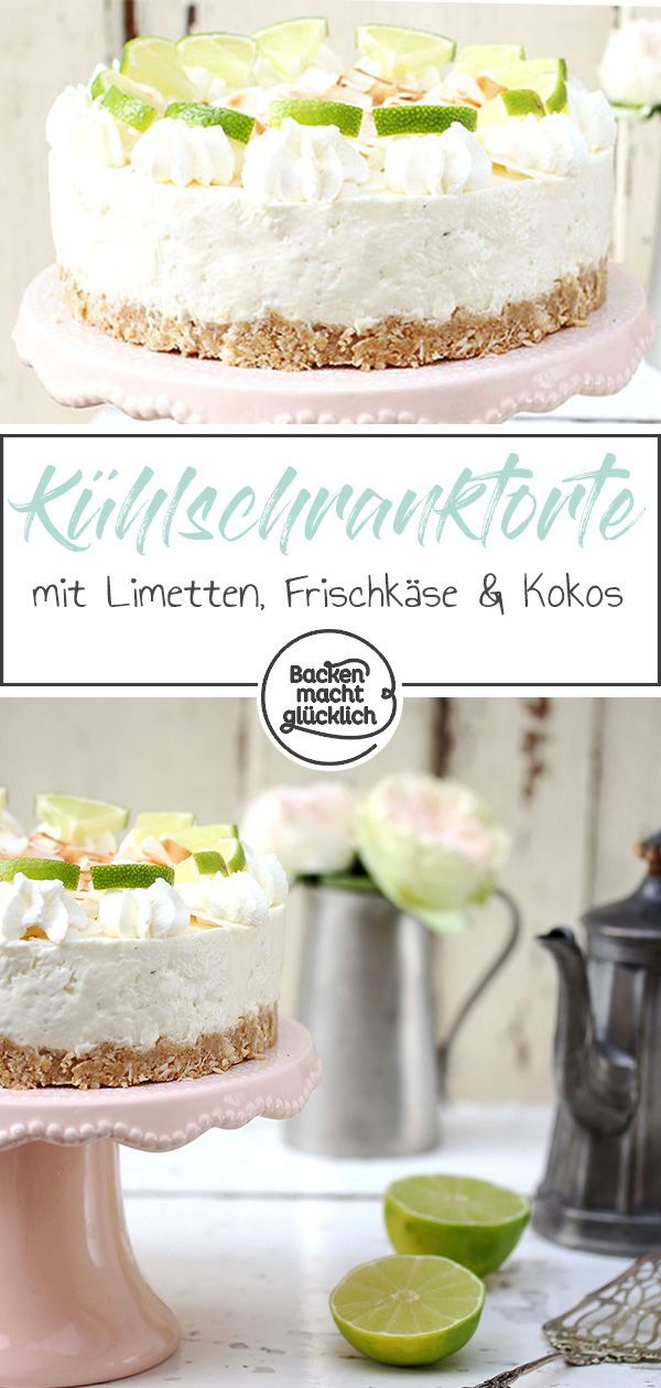 limetten cheesecake ohne backen rezept k sekuchen quark schmand cheese cakes pinterest. Black Bedroom Furniture Sets. Home Design Ideas