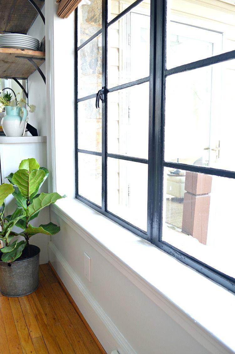 Painted Black Window Frames Black Window Frames Black Window
