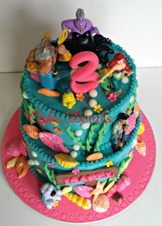 Under The Sea Ocean Life Fondant Cake Toppers Mermaid Decorations Birthday Toppe
