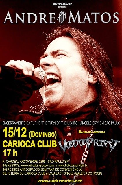 André Matos e Voodoopriest domingo em SP | Portal Metal Revolution – 13 anos…