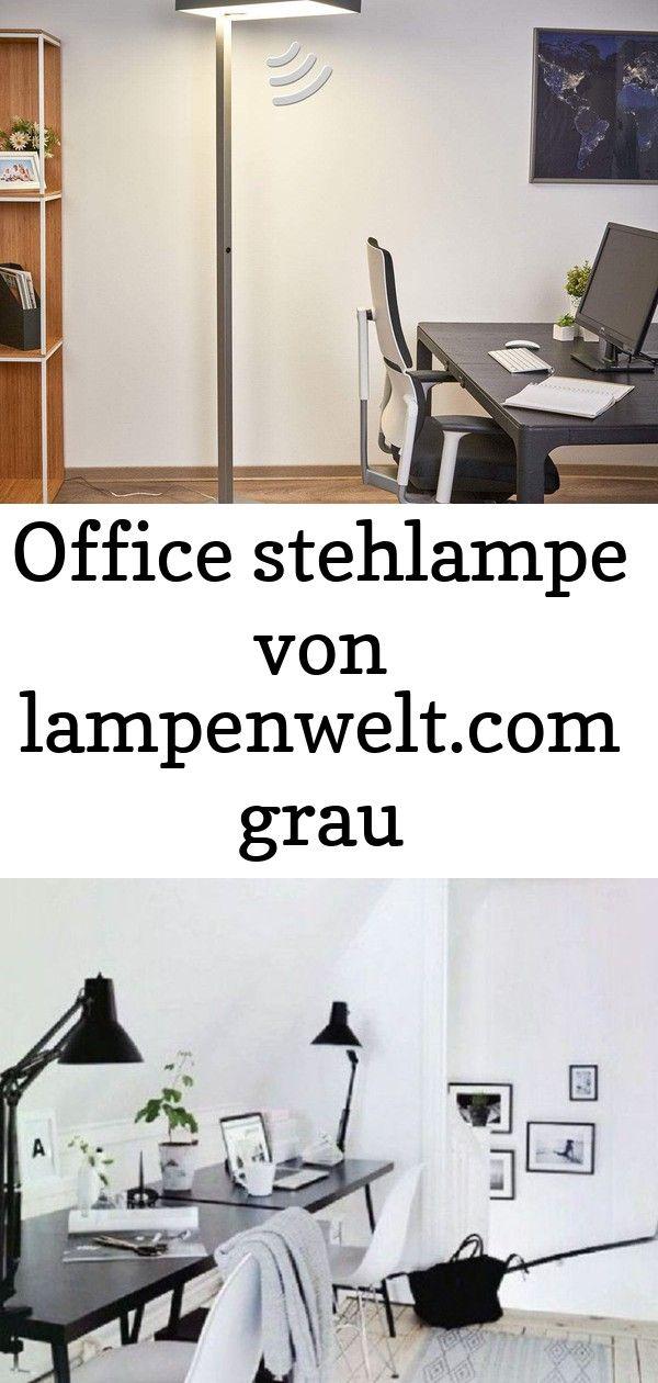 Office stehlampe von lampenwelt.com grau #afrikanischerstil