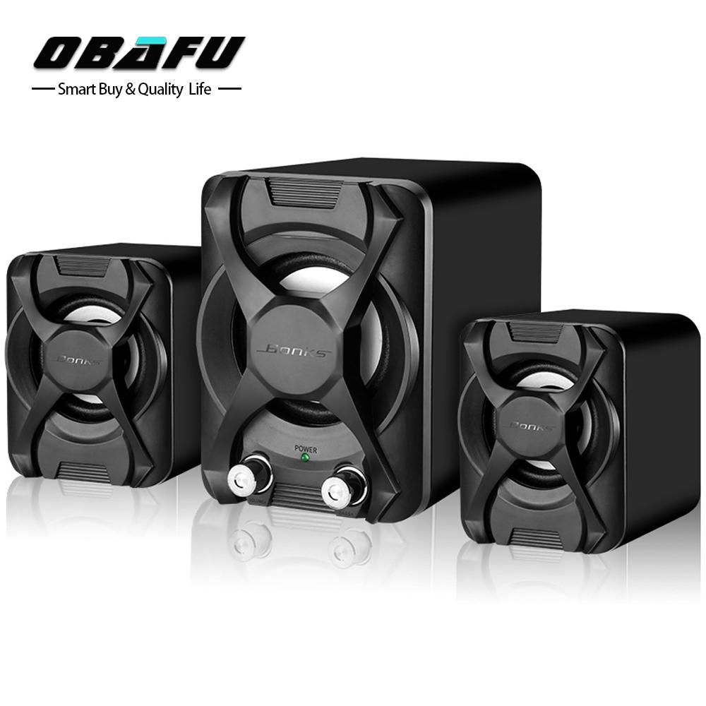 Portable Wired Computer Speaker Bass Wooden USB Speakers For Phone Video Player