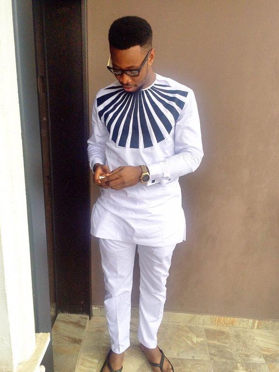 African Clothing For Men Traditional African Print By Malvisco African Shirts Pinterest