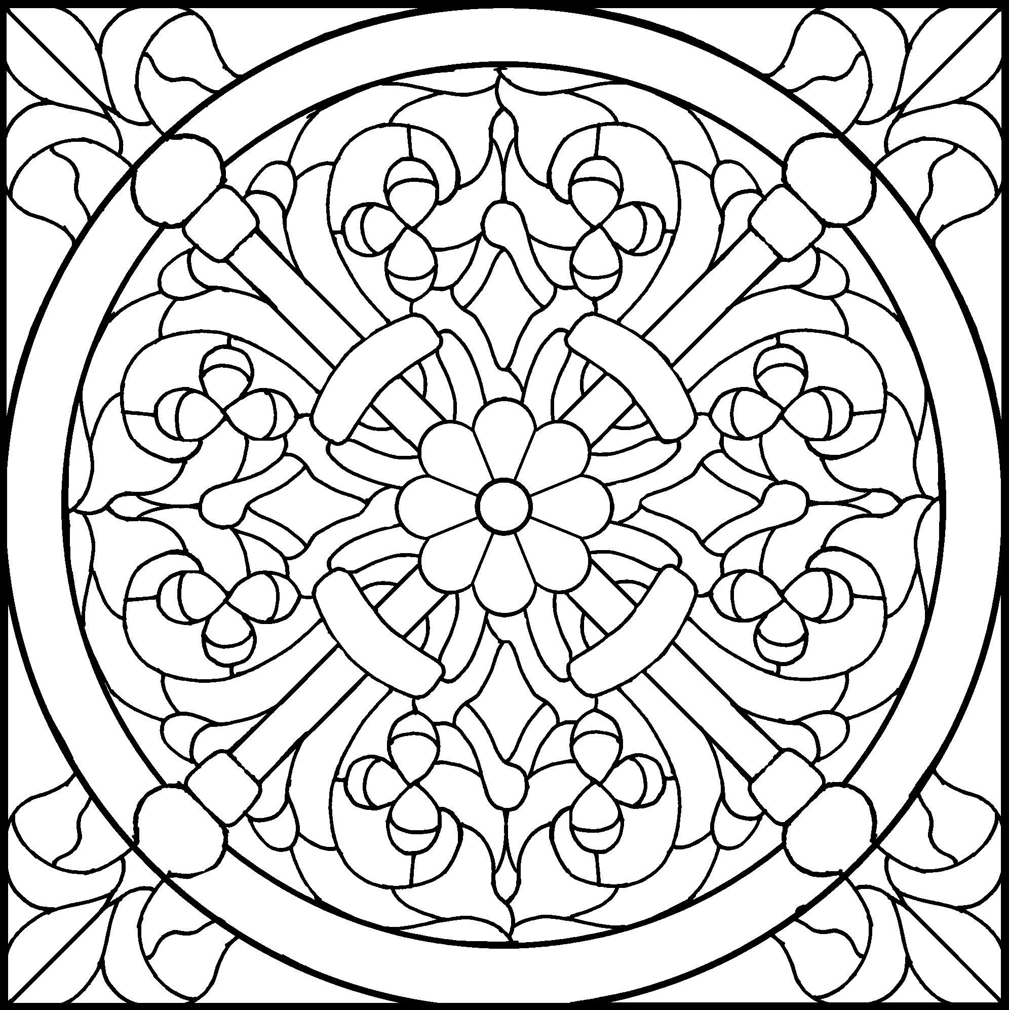 Printable coloring page fleur de lis mandala mandalas for Fleur de lis coloring page