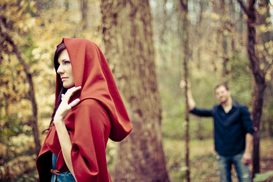 Micah & Charlotte Session Idea - Red Riding Hood