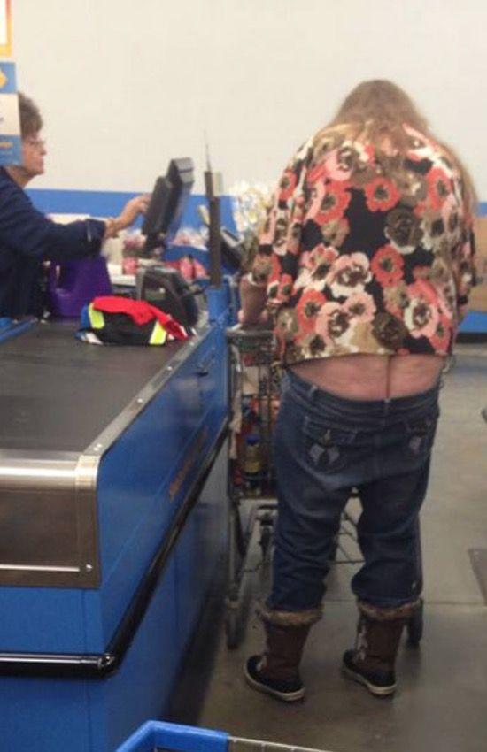 Oops Butt Crack