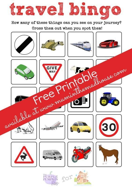 Road trip travel printables and a Ford C-MAX review -  Travel Bingo free Printable.  This Bingo/eye
