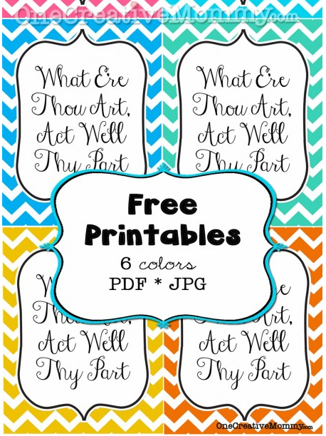 Inspiring quote chevron printable from One Creative Mommy, featured ...