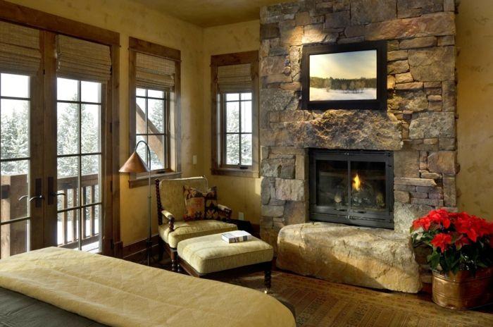 ▷ 1001 + Ideen für Steinwand Wohnzimmer zum Inspirieren Pinterest