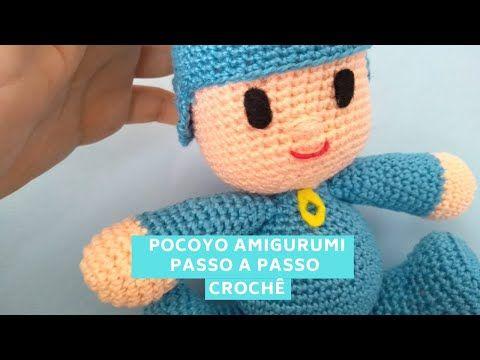 Pocoyo - Amigurumi - Vídeo Aula   Crochê passo a p...