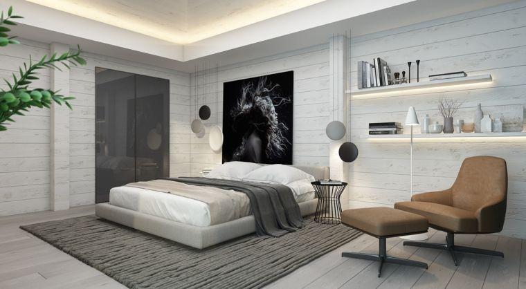 Chambre contemporaine : 33 idées déco murale design | Pour la ...