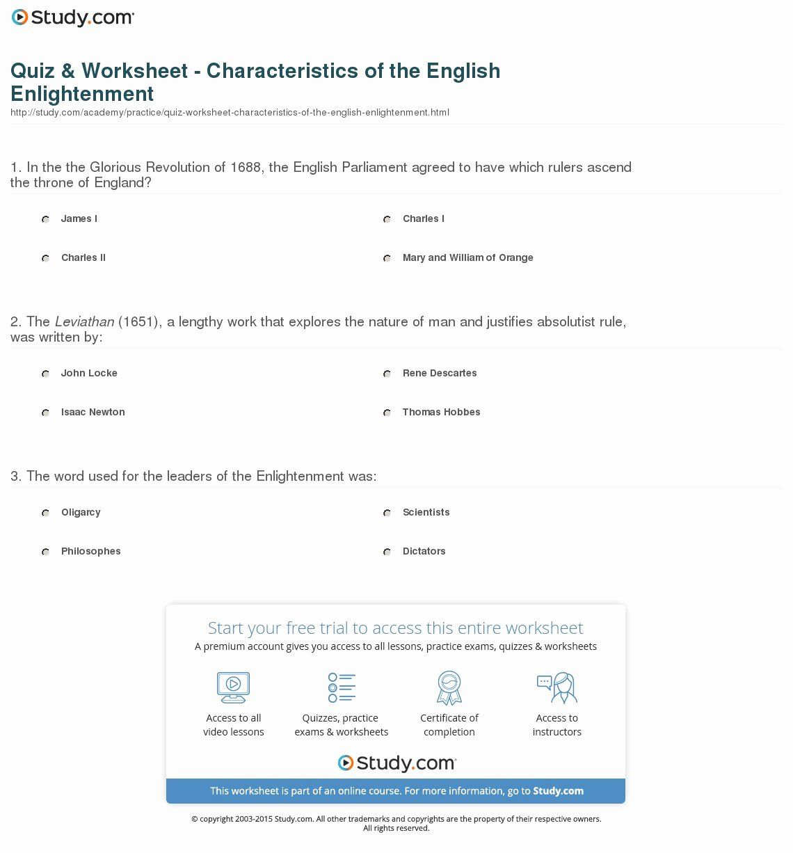 50 The Enlightenment Worksheet Answers Chessmuseum Template Library In 2020 Math Worksheet Practices Worksheets Inspirational Quiz