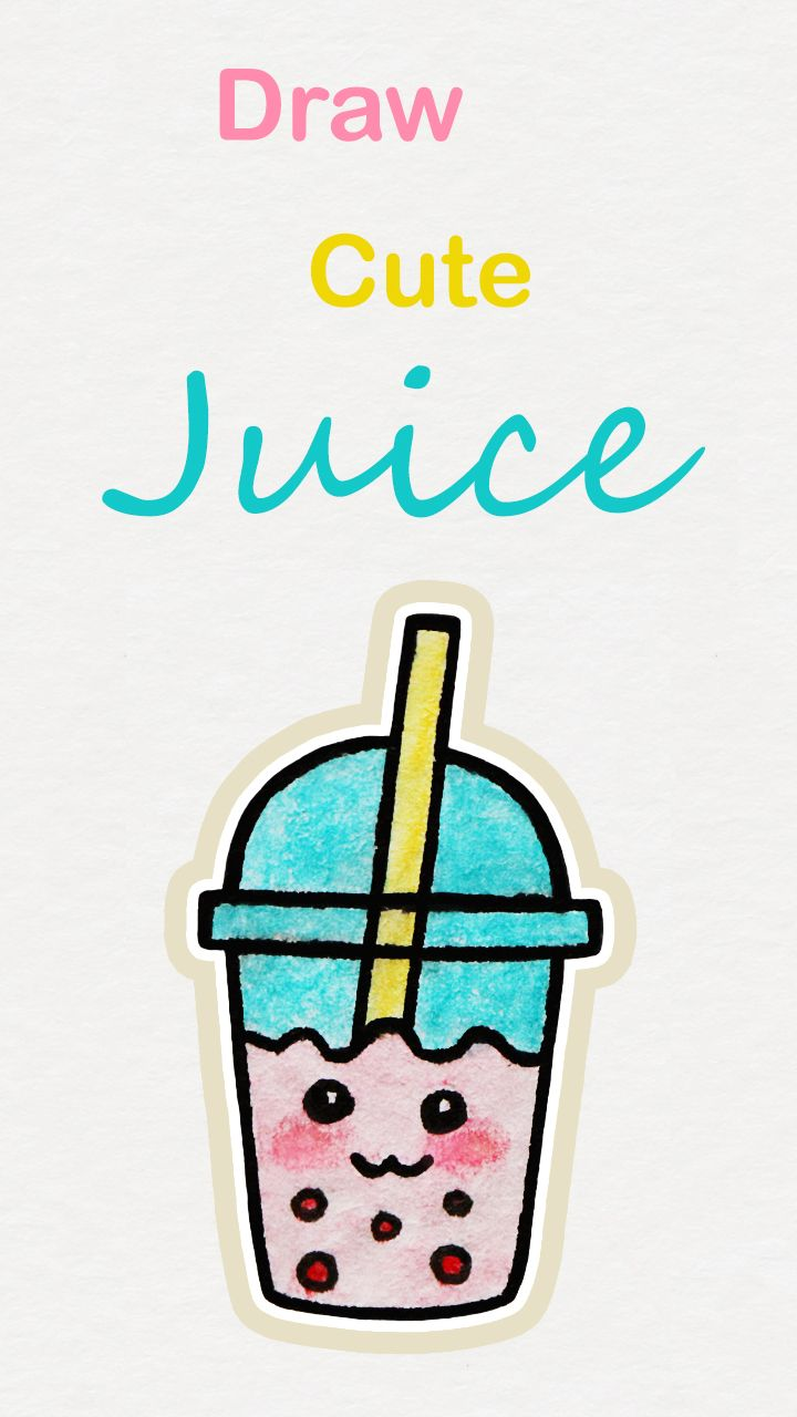 Learn how to draw so cute Juice, easy step by step kawaii tutorial ...