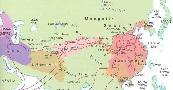 asian continent during the time of the roman empire han dynasty ad was the first big empire in china spreading from yellow river basin
