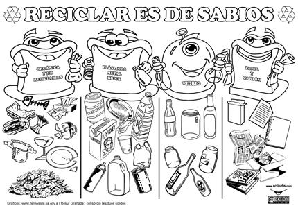 Reciclar Es De Sabios Actividades De Reciclaje Para Niños