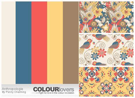 vintage color anthropologie color palettes vintage. Black Bedroom Furniture Sets. Home Design Ideas