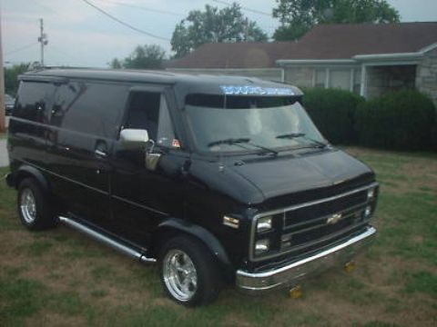 Vintage 70 S Style Chevy G10 Custom Shorty Van Hot Rod Chevy Van