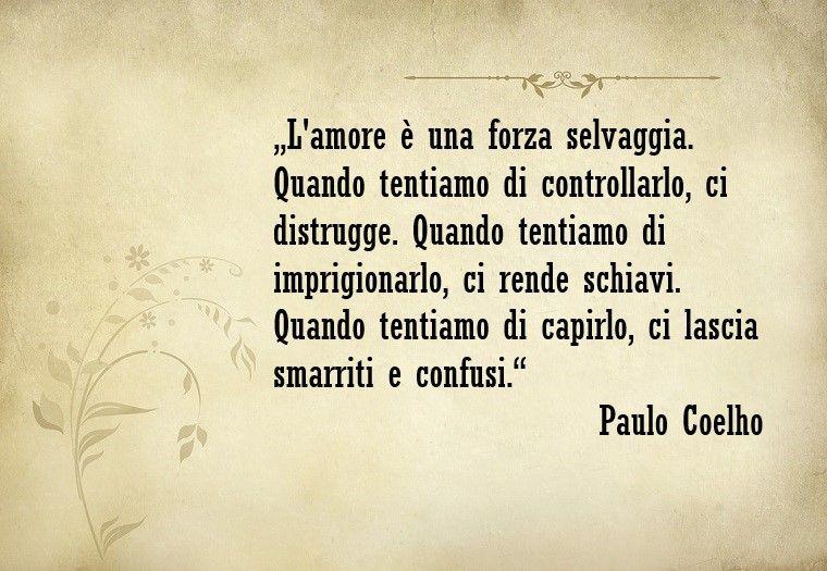 frasi sull amore Frasi sull'amore e un bellissimo pensiero di Pauolo Coelho | Frasi  frasi sull amore