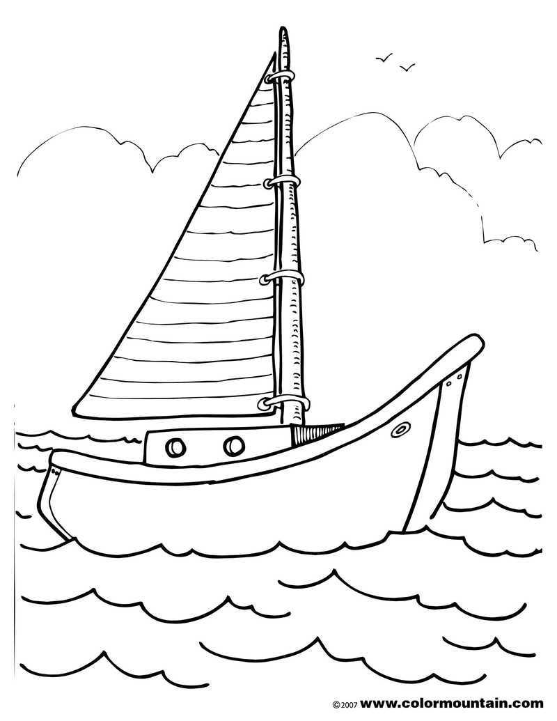 Printable Boat Coloring Pages Coloring Pages Coloring Pages For