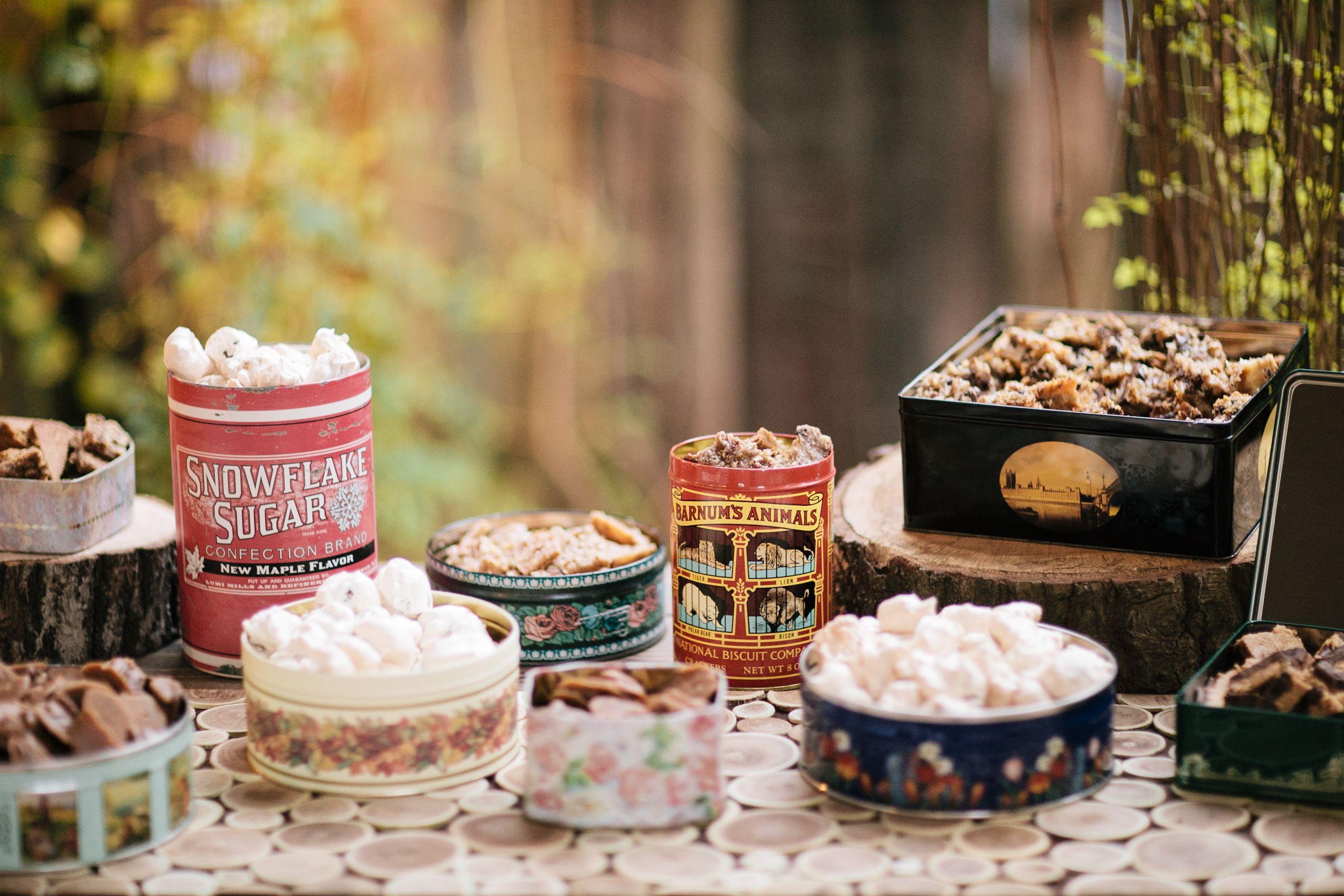 Old fashioned, homemade candy station | White Rabbit Studios #weddings #weddingdesserts #candy
