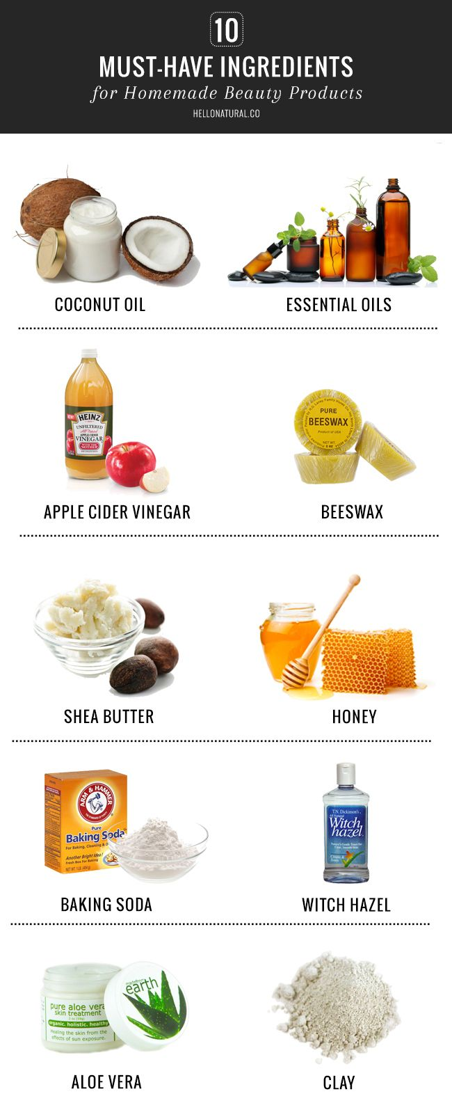 10 Must Have Ingredients For Homemade Beauty Products With Images