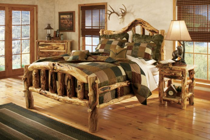 Log Bedroom Sets Mesmerizing Cabela's Extragnarly Aspen Log Bed  Aspen Logs And Bedrooms 2018