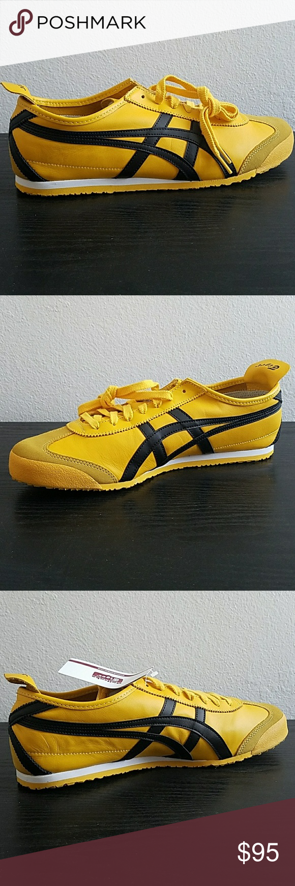 asics onitsuka tiger mexico 66 black yellow zalando se