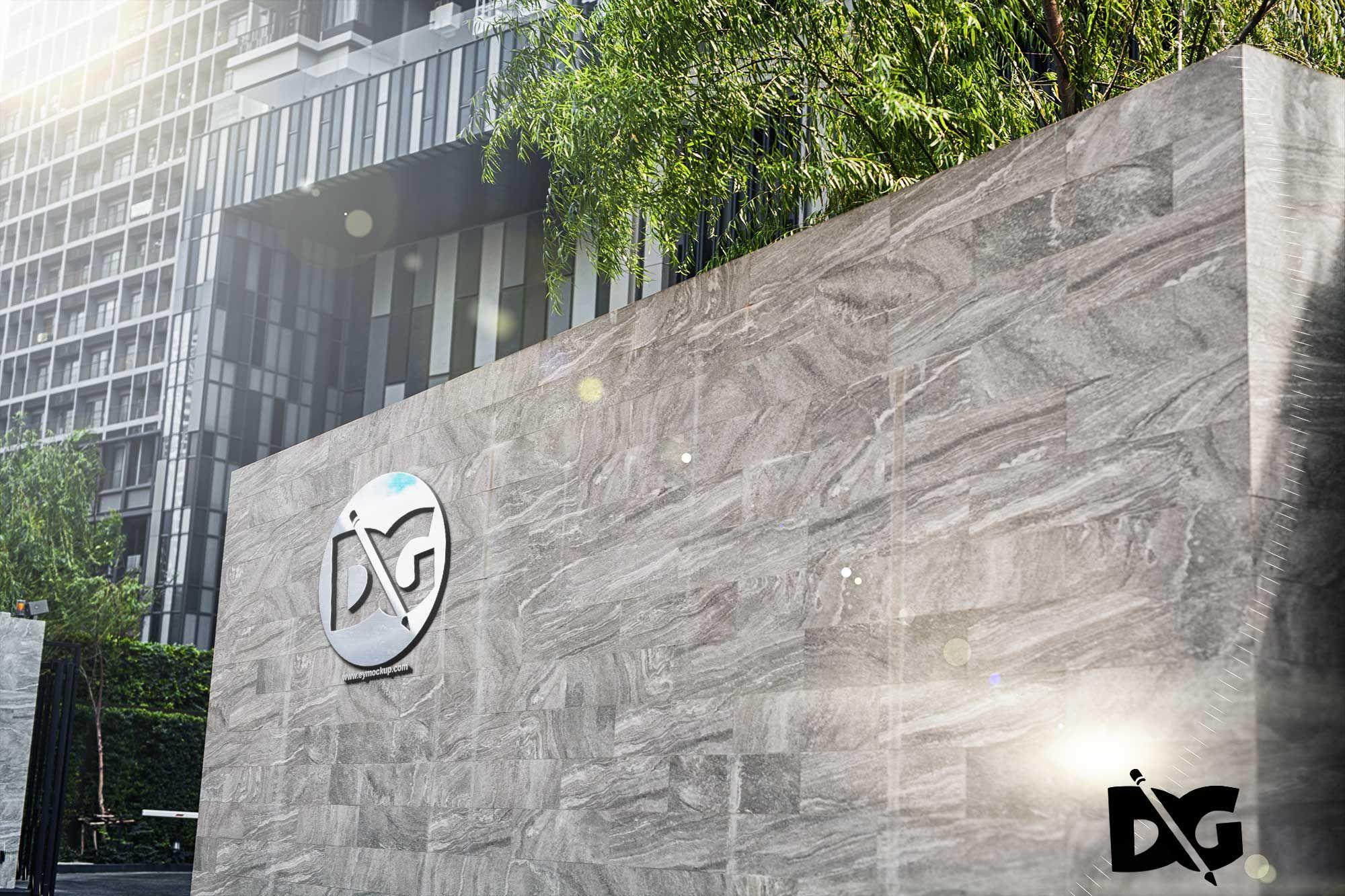 Download 3D Wall Logo Mockup in 2020 Wall logo, Mockup