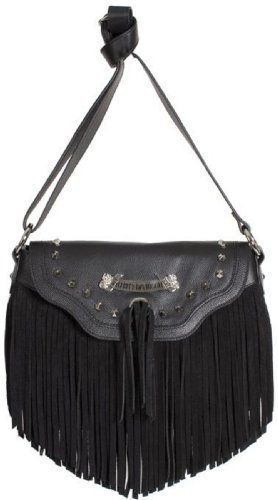Harley Davidson Women S Fringe Crossbody Purse Clothing Impulse Motorcycle Style Biker