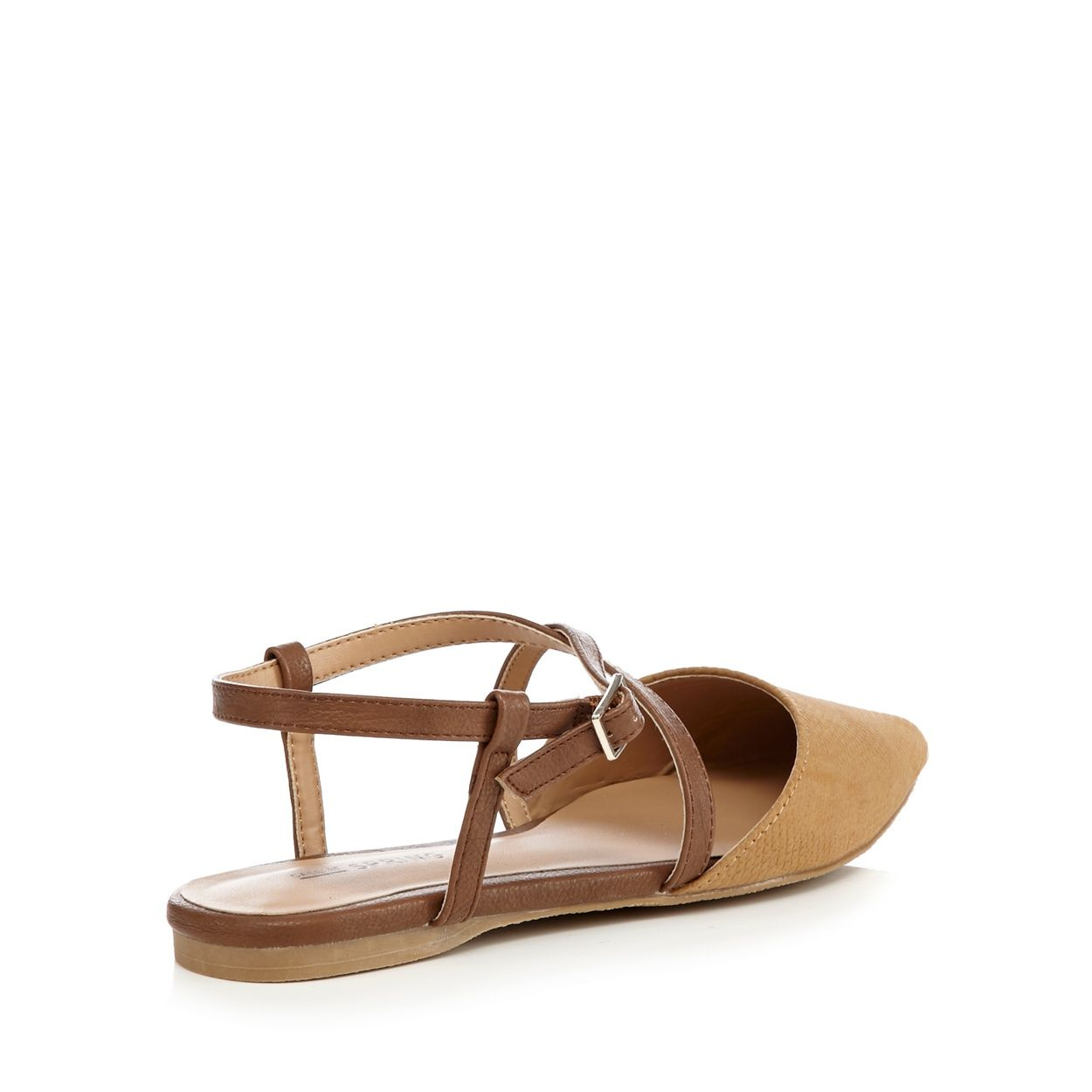 Call It Spring Tan 'Frogaut' ankle strap sandals