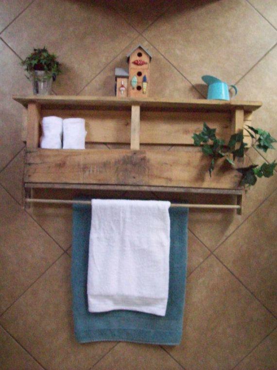 Lindo porta toallas r stico ba o pinterest toallas - Porta toallas para bano ...