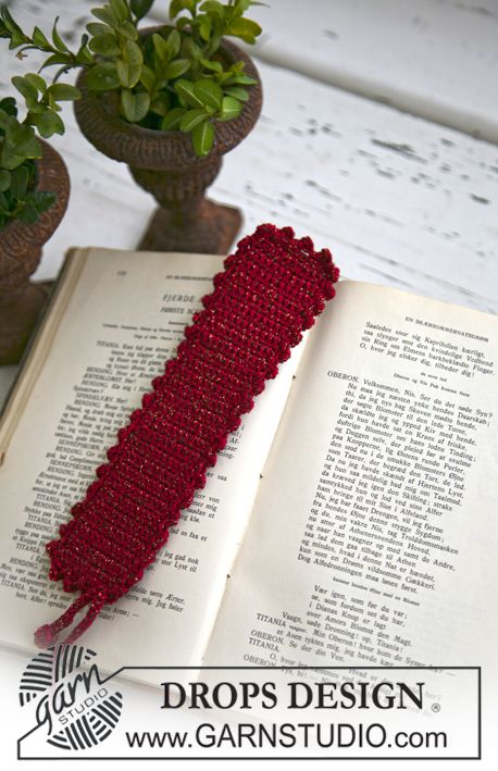 Marcador de páginas DROPS de Navidad, en ganchillo / crochet, en ...