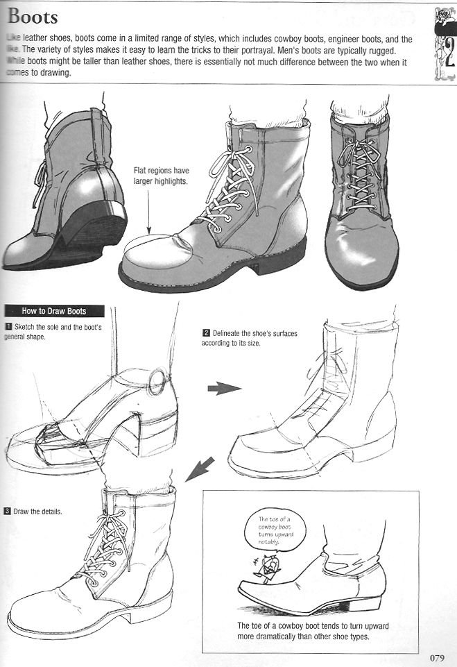 Useful information on drawing footwear from socks to
