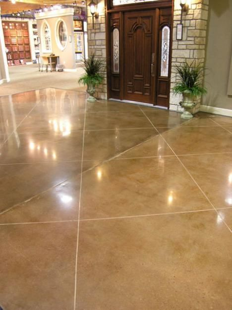 Stained Concrete To Replace House Tile
