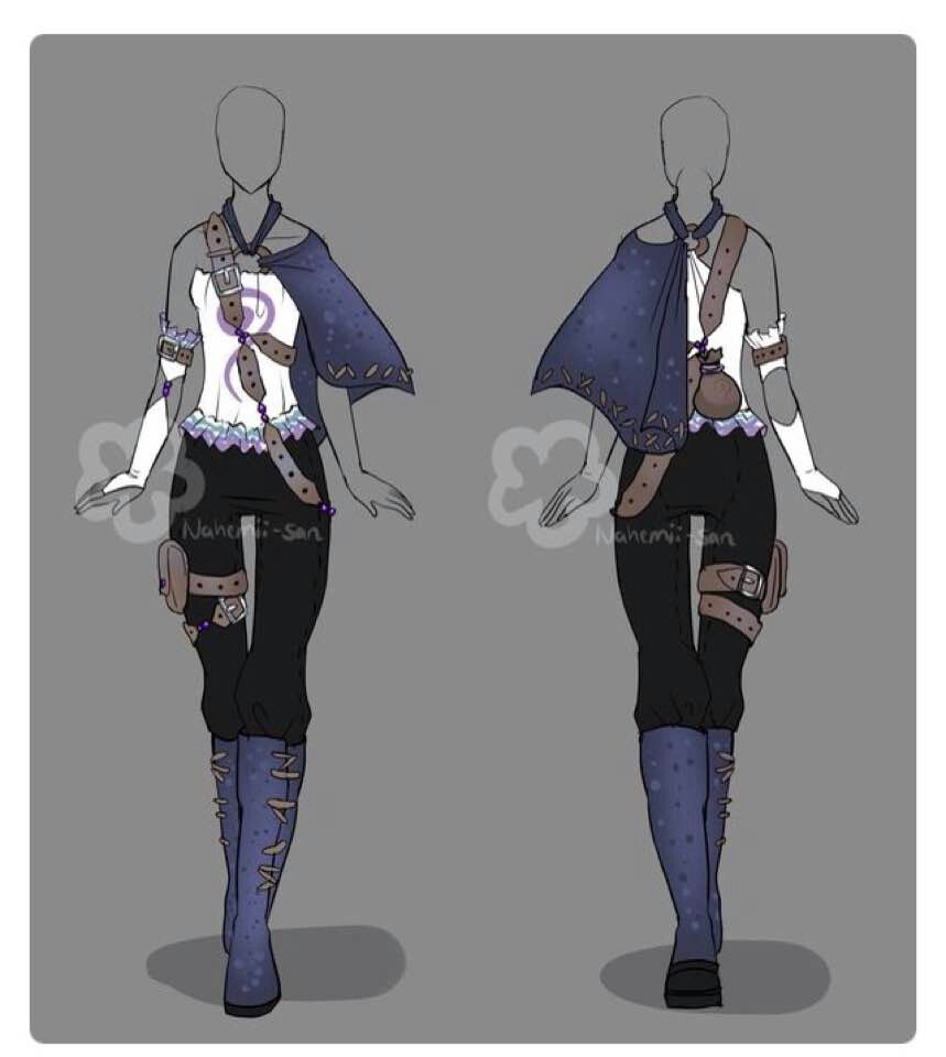Nomad Outfit Fantasy Clothing Anime Outfits Art Clothes