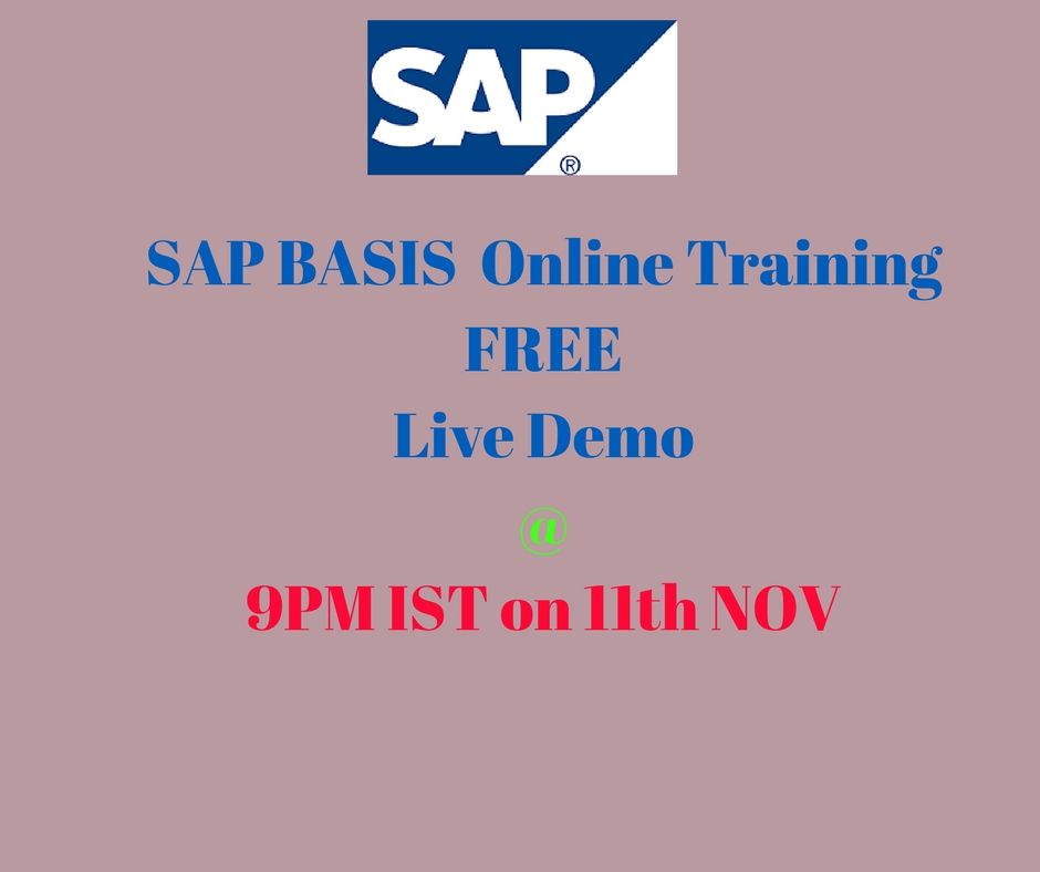 Best SAP Basis Online Training By Real Time Industry Expert