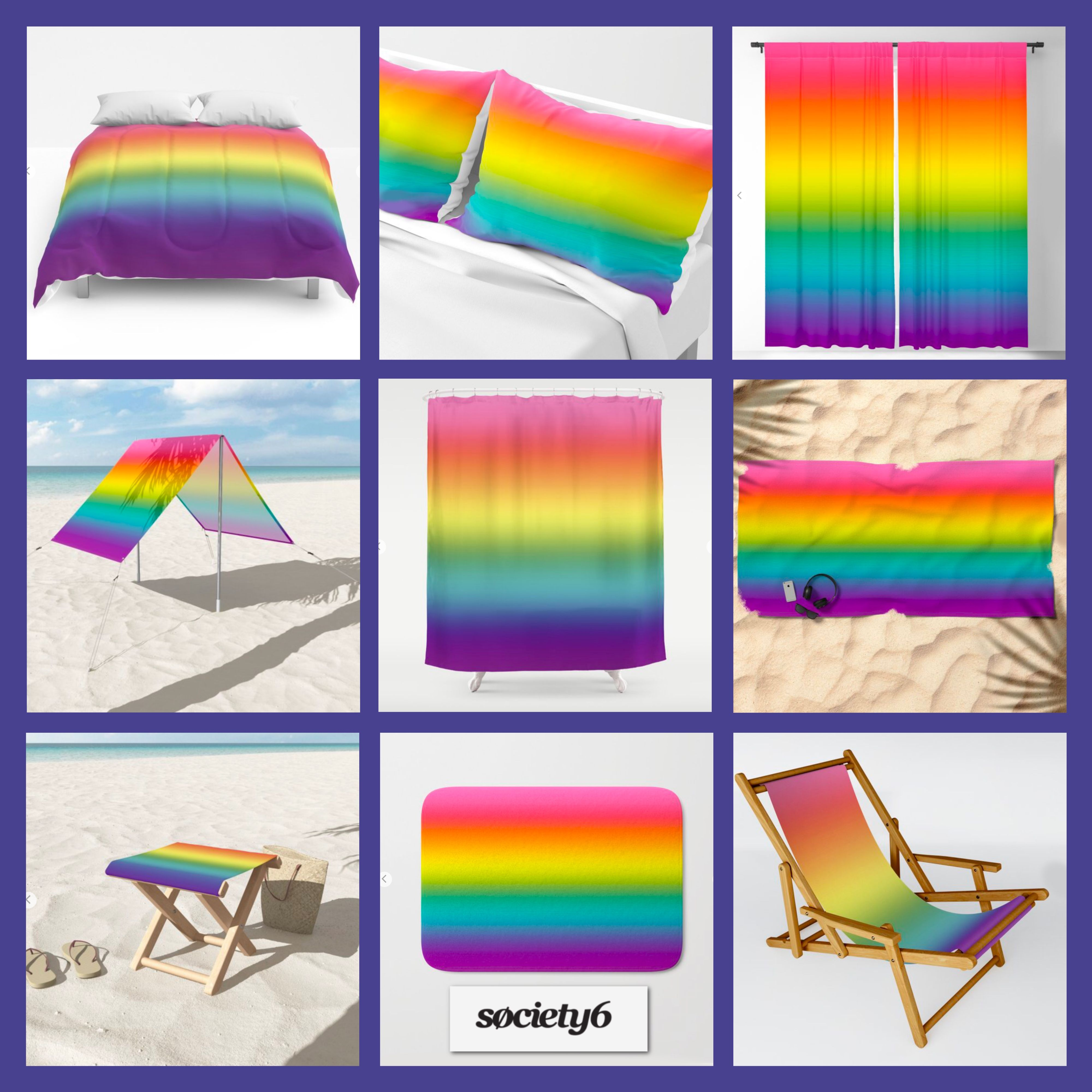 The Pride Rainbow Flag Created Into A Gradient Ombre Effect The