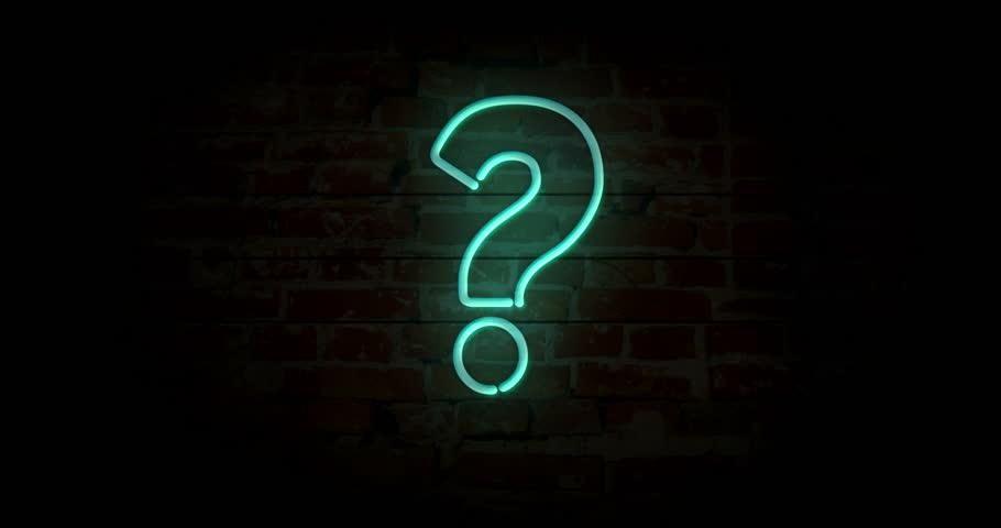 Videoclip de stoc Question Mark Neon Sign Light (100 % fără drepturi de autor) 1021084219   Shutt...