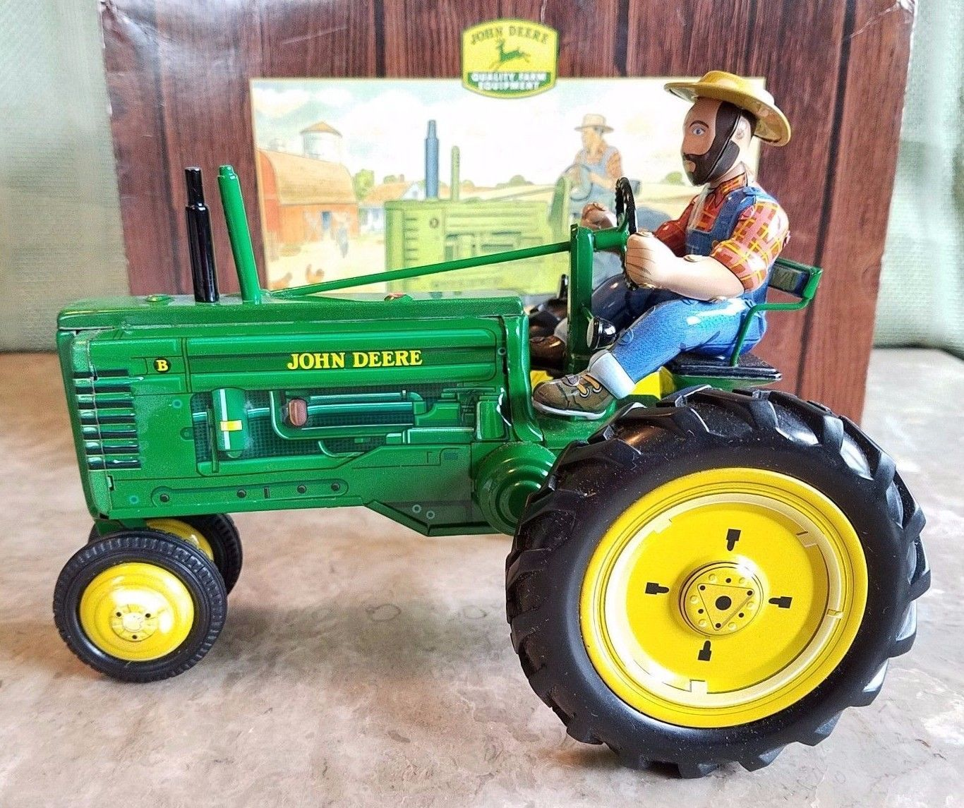 B toys car wheel  John Deere Model B Tractor Toy by Franklin Mint With Key  Buying