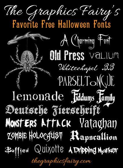 free halloween fonts # 1